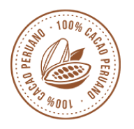 Sello de cacao peruano